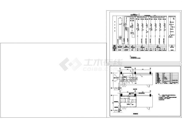 钢结构工业厂房电气设计cad图纸,含照明设计-图一