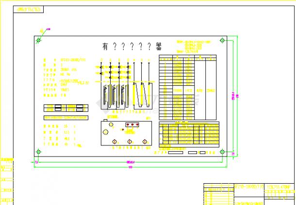 SFZ10-28000变压器电气设计cad图纸-图一