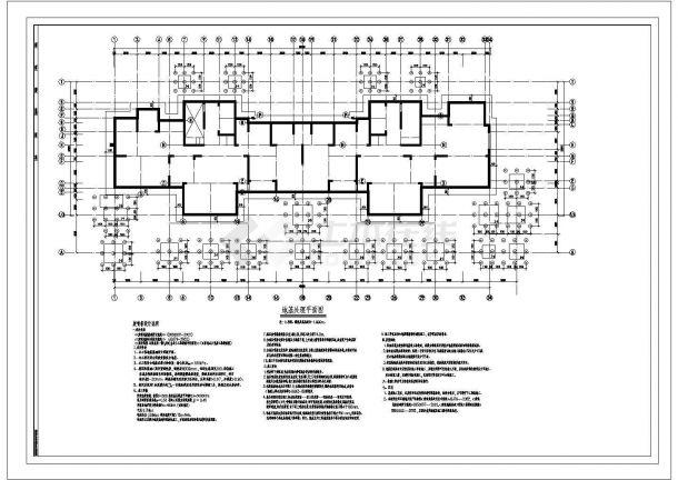[节点详图]某筏板基础及地基处理结构设计图-图二