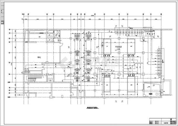 某大型制冷机房设备布置及预留孔洞施工图-图二