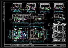 某配药加氯系统工艺流程图及剖面图