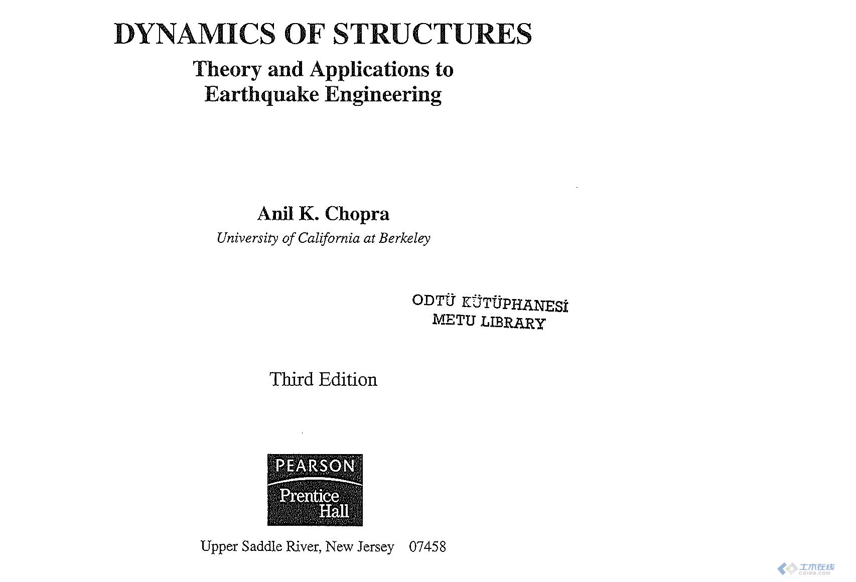 Dynamics of Structures Theory and Applications to Earthquake Engineering, 3rd Edition.jpg