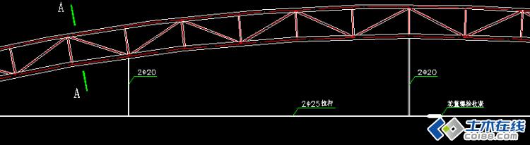 拱形钢屋架建模疑问